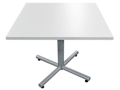 Refurbished Square White Laminate Table VPOE