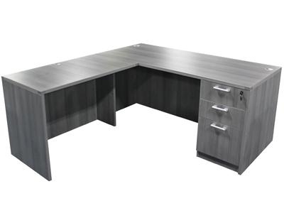 Value Line Single Pedestal L Shape Desk