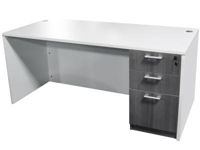 huge selection of 5b122 64b7f Value Line White Laminate Single Pedestal Desk