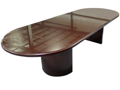 Glass Top Veneer Conference Table VPOE - Conference table accessories