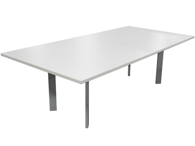 White Laminate Conference Table VPOE - White laminate conference table
